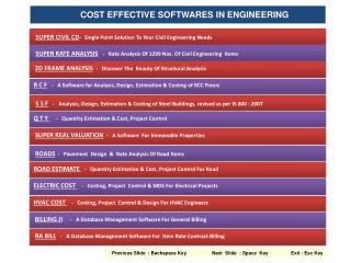COST EFFECTIVE SOFTWARES IN ENGINEERING