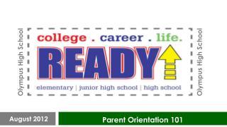 Parent Orientation 101