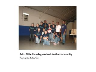 Faith Bible Church gives back to the community