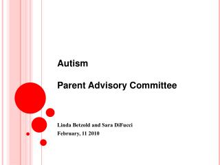 Autism Parent Advisory Committee