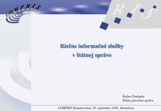 Riečne informačné služby v štátnej správe