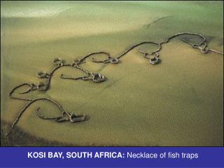 KOSI BAY, SOUTH AFRICA:  Necklace of fish traps