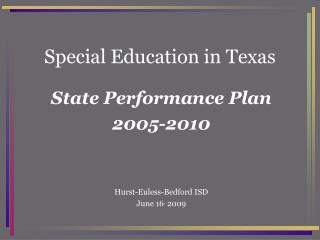Special Education in Texas