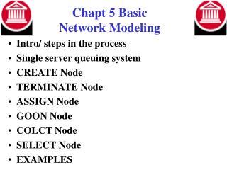 Chapt 5 Basic  Network Modeling
