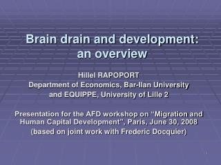 Brain drain and development: an overview