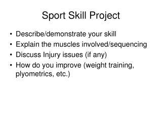 Sport Skill Project