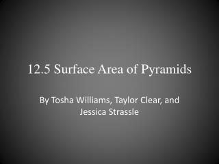 12.5 Surface Area of Pyramids