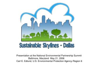 Presentation at the National Environmental Partnership Summit