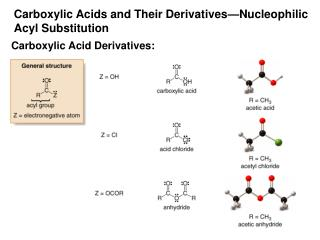 Carboxylic Acids and Their Derivatives Nucleophilic Acyl Substitution