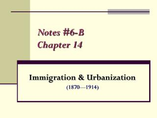 Notes #6-B Chapter 14