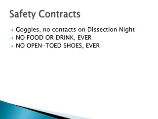 Safety Contracts