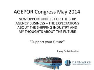 AGEPOR  Congress  May 2014