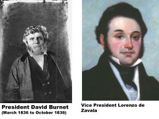 President David Burnet  (March 1836 to October 1836)