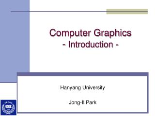Computer Graphics -  Introduction -