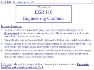 Welcome to  EGR  110 Engineering Graphics