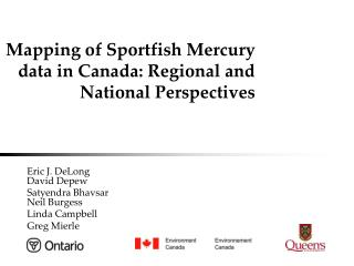 Mapping of Sportfish Mercury data in Canada: Regional and National Perspectives