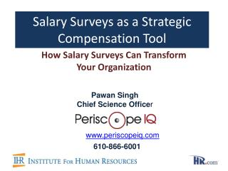 Salary Surveys as a Strategic Compensation Tool