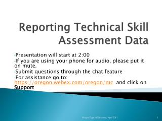 Reporting Technical Skill Assessment Data