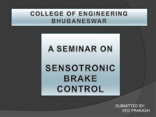 A  SEMINAR ON  SENSOTRONIC BRAKE CONTROL
