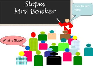 Slopes Mrs. Bowker