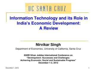 Information Technology and its Role in India's Economic Development:  A Review