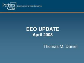 EEO UPDATE April 2008