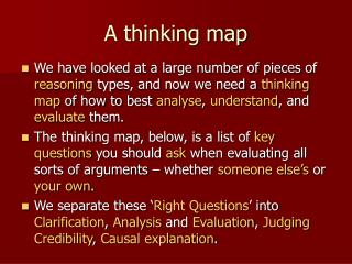 A thinking map