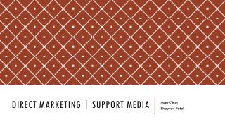 Direct Marketing | Support Media
