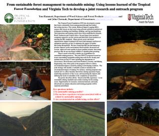 Tom Hammett, Department of Wood Science and Forest Products himal@vt  and