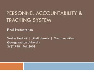 Personnel Accountability & Tracking System