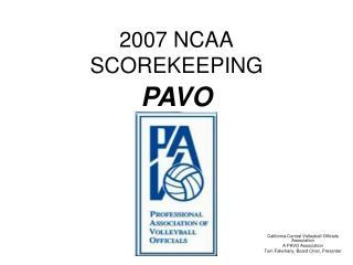 2007 NCAA SCOREKEEPING