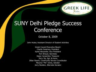 SUNY Delhi Pledge Success Conference
