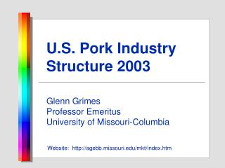 U.S. Pork Industry Structure 2003