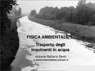 Trasporto degli inquinanti in acqua