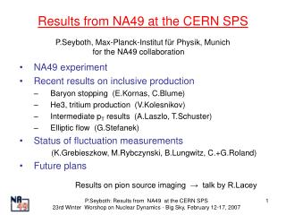 Results from NA49 at the CERN SPS
