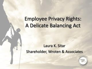 Employee Privacy Rights:  A Delicate Balancing Act
