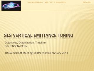 SLS Vertical Emittance Tuning