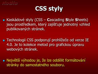 CSS styly