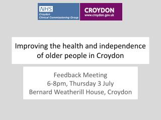 Improving the health and independence of older people in Croydon