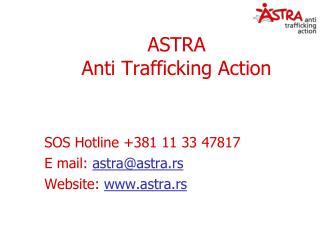 ASTRA  Anti Trafficking Action