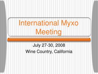 International Myxo Meeting