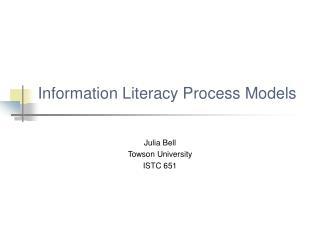 Information Literacy Process Models