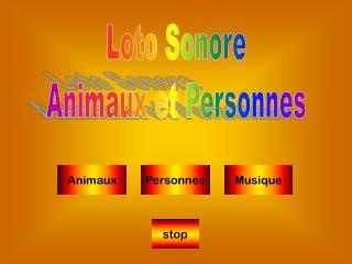 Loto Sonore Animaux et Personnes