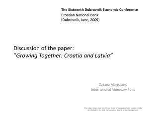 Zuzana Murgasova International Monetary Fund