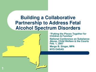 Building a Collaborative Partnership to Address Fetal Alcohol Spectrum Disorders