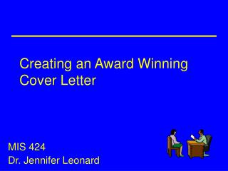 Creating an Award Winning Cover Letter