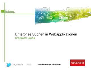 Enterprise Suchen in Webapplikationen