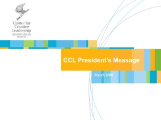 CCL President's Message