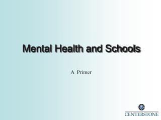 Mental Health and Schools