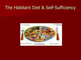 The Habitant Diet & Self-Sufficiency